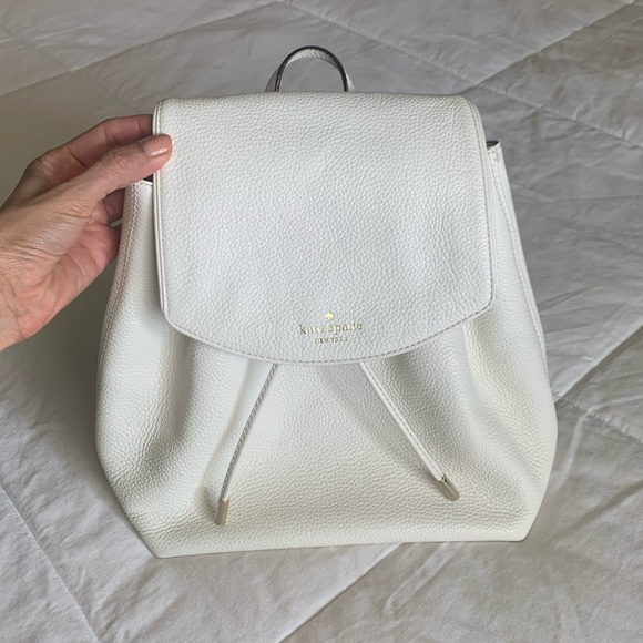 White Kate Spade Backpack